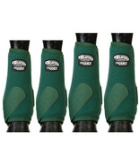 Med Weaver Horse Boots Front Rear Prodigy Athletic Four Pack Hunter Gree... - $115.78