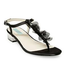 BETSEY JOHNSON 'Olive' Clear Block Heel Sandal Tulle Flowers 7.5 Retail ... - $33.68