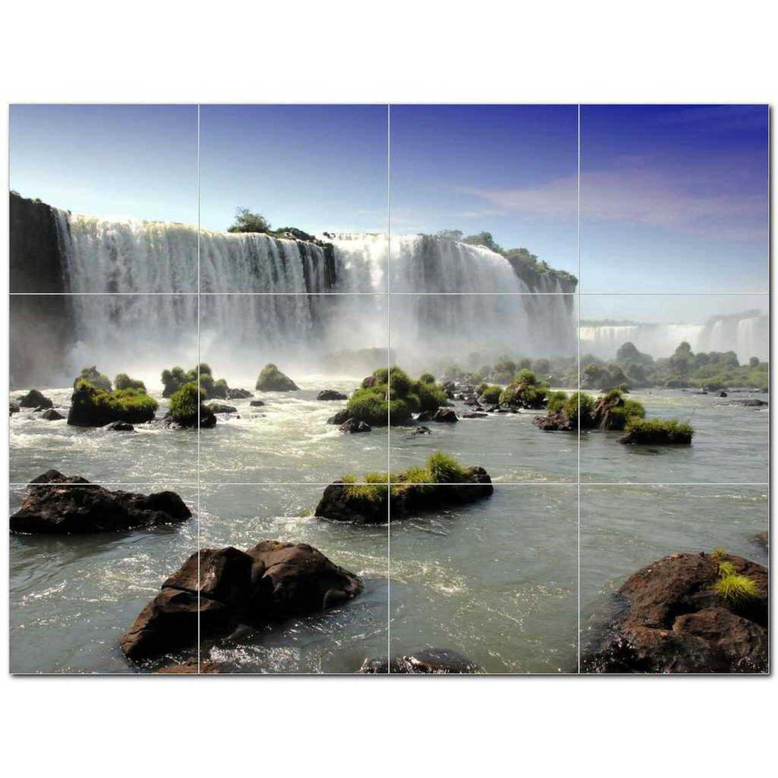 Primary image for Waterfall Photo Ceramic Tile Mural Kitchen Backsplash Bathroom Shower BAZ406107