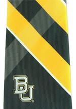 Baylor Bears Mens Necktie College University Logo E. Wings Grid Green Neck Tie  image 2