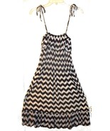 Size M - Huefulin Black & White Zig Zag Print w/Self Tie Straps & Ruffle... - $29.99