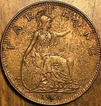 1926 GREAT BRITAIN FARTHING COIN - $5.29