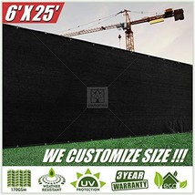 ColourTree 6' x 25' Black Fence Privacy Screen Windscreen Cover Fabric S... - $41.00