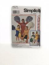 Cheerleader Costume Sewing Pattern Simplicity 8278 Girls Cheerleading Un... - $14.84