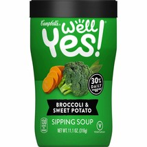 Campbell's Well Yes Broccoli & Sweet Potato Sipping Soup 11.1 oz - 6 count - $19.79