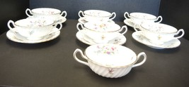 Seven Vintage Minton Marlow Demitasse Cream Soups and Saucers - $118.74