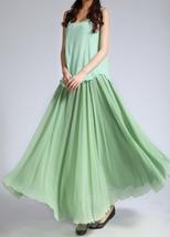 CHIFFON MAXI Skirt Sage-Green Long Silk Chiffon Maxi Skirts Bridesmaid Skirts image 4