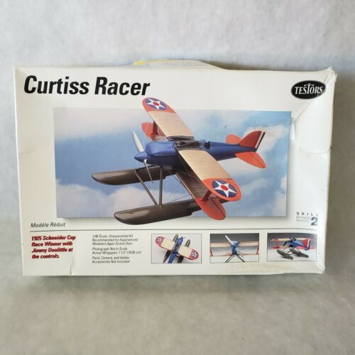 Primary image for Testors Curtiss Racer Airplane Model 1/48 scale skill level 2