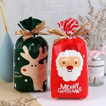 Christmas Santa Gift Candy Bag New Year Presents Baking Package For Deco... - $8.90