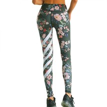 Women Yoga Pants Womens  Floral Printed  Yoga Workout Gym Leggings Fitne... - $13.50