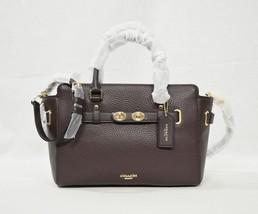 Coach F55665 Blake 25 Carryall Leather Satchel/Shoulder/Crossbody Bag in Oxblood - $279.00