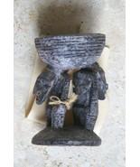 Unique Rare Old Ramu Betel Mortar Huon Gulf Tribe New Guinea Carved Figu... - $161.49