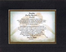 Personalized Touching and Heartfelt Poem for Loving Partners - You Are My Love F - $22.72