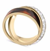 Michael Kors MKJ3089 Baguette/Tortoise Eternity Ring, Size 6 in Jewelry Pouch - $59.75