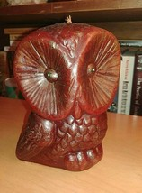 "Vintage 70s Artist Hoot Wise Owl Candle 5 1/2"" Guillermo Sanchez B - $19.75"