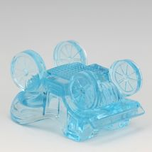 Vintage Novelty Glass LG Wright Blue Carriage Ashtray image 4
