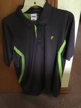 Fila Sport Men's Golf Polo. Gray/green. Size M. - $12.00