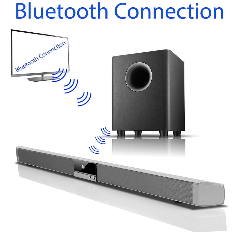 Boytone BT-888 Audio 39 inch 80W Bluetooth Sound Bar with Bluetooth Subwoofer Ho