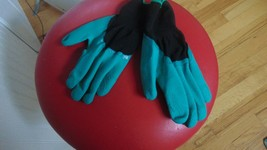 Two Pair Of Rubber Gardening Gloves 1 Pair Sharpe Fingers For Digging In... - $9.89