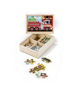 Melissa & Doug Vehicles Jigsaw Puzzles in a Box, Four (Standard Packaging) - $13.12