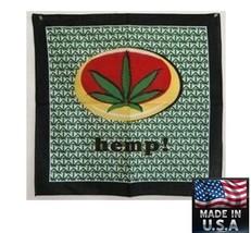 USA Gemacht Hanf! Blatt Hanf Marijuana Kopftuch Bandana Schal Schal Stir... - $8.96