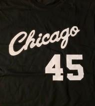 Graphic T-Shirt Chicago 45 Jordan Screen Printed Black S - $11.64