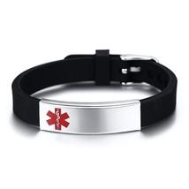 Vnox Engravable Medical Alert ID Bracelet DIABETES EPILEPSY ALZHEIMER'S ... - $23.36