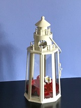 6 Ivory Lighthouse Lantern Table Decor Wedding Centerpieces  - $88.00