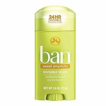 Ban Antiperspirant Deodorant, Invisible Solid, Sweet Simplicity, 2.6 Ounce - $3.59