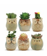 Ceramic Owl Shape Succulent Flower Pot Home Plant Potted Vase Decoration... - $15.93