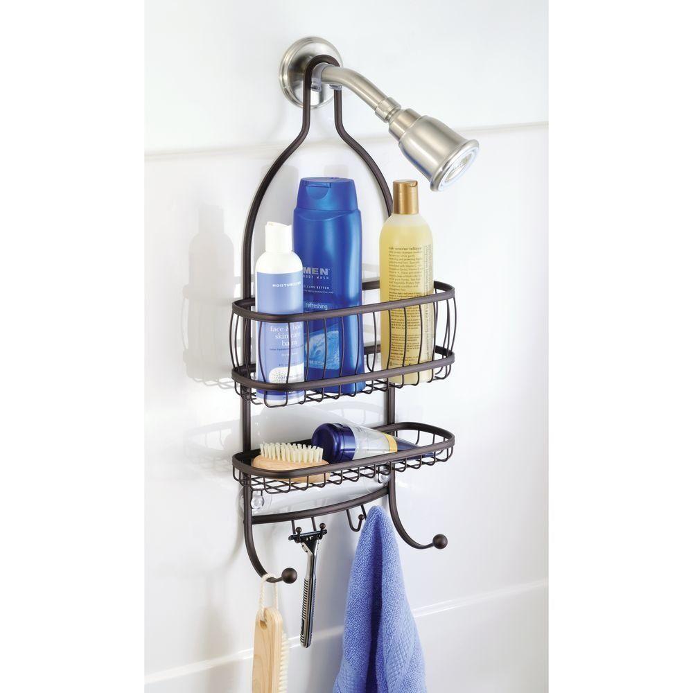 Bathroom Shower Caddy Hanging Shelf Bath Storage Organizer Shampoo Soap Shelves