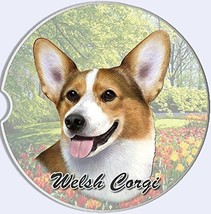 Welsh Corgi Car Coaster Absorbent Keep Cup Holder Dry New Stoneware Dogs  - $10.88