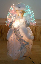 "Beautiful LED Fiber Optic Angel Christmas Tabletop or Tree Topper 14.5"" - $27.07"