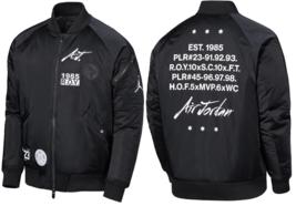 NIKE JORDAN GREATEST J-1 BOMBER JACKET BLACK SIZE M NEW W/TAGS $250 (AV5... - $159.55