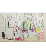 Pablo Picasso offset color lithograph dated 15.... - $594.00