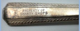 vintage RW & S AISECT FORK roger wallace PROPERTY SHANTY SHOPS silverpl... - $18.95