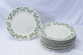 """Holly Berry Dinner Plates Made in China 10.75"""" Lot of 11 image 4"""