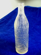 Antique Alamo Bottling Works Balloon Size Clear Glass Soda Bottle 15 Oun... - $21.29