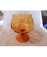 """Vintage Large Brown Amber Brandy Glass Stem for Candy or Flowers 8"""" Tall... - $55.69"""