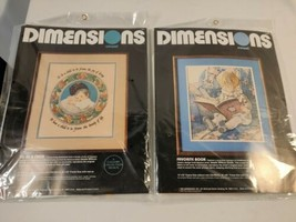 Lot 2 DIMENSIONS CREWEL Kit NIP #1311 1296 TO BE A CHILD FAVORITE BOOK J... - $28.05