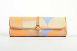 Louis Vuitton Tan Blue Orange Patent Leather Vernis Embossed Pochette Fleur Bag - $258.00