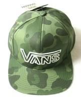 Vans Mens Neon Day Logo Camouflage Snap back Hat Cap Green White Free Sh... - $19.79