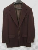 """BILL BLASS 100% CASHMERE BROWN SPORT COAT JACKET BLAZER LORD & TAYLOR 42"""" - $28.49"""