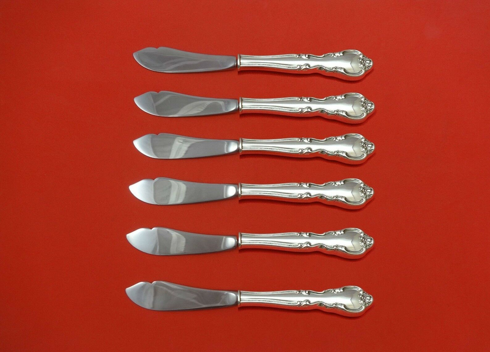 """American Classic by Easterling Sterling Silver Trout Knife Set 6pc 71/2"""" Custom - $419.00"""