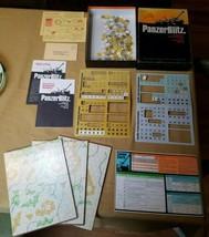 Panzer Blitz Game of Armored Warfare - 1970 Avalon Hill Bookcase Game #807 - $29.02