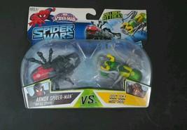 MARVEL Ultimate SPIDER-MAN WARS ARMOR SPIDER-MAN vs DOC OCK Battle Spide... - $14.49