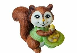 Lefton figurine Squirrel Chipmunk Japan vtg anthropomorphic hat nuts dec... - $19.69