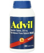 Advil 360 Coated Tablets Ibuprofen Tablets 200mg - $26.45