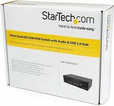 Star Tech 4 Port Dual Dvi Usb Kvm Switch w/ Audio & Usb Hub SV431DD2DUA - $357.99