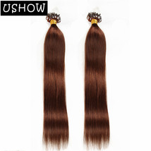 Straight Peruvian Loop Micro Ring Hair Extensions 100% Human Hair 1g/s 1... - $8.71+